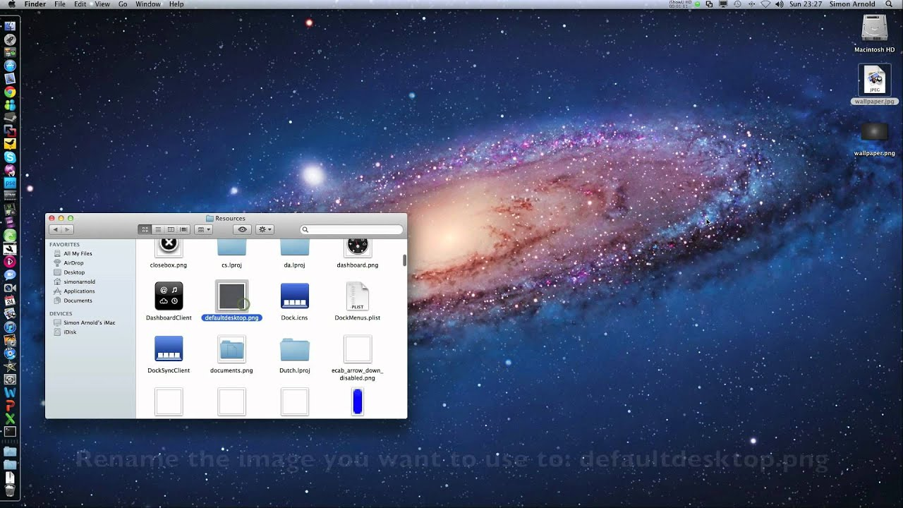 how to change mission control wallpaper in mac os x lion