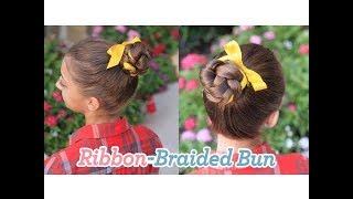 Ribbon-Braided Bun | Updos | Cute Girls Hairstyles