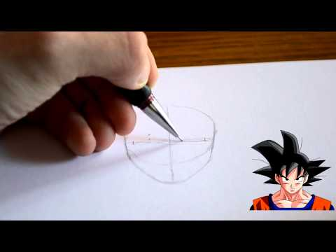 How to Draw with Ciborg: Twarz Goku