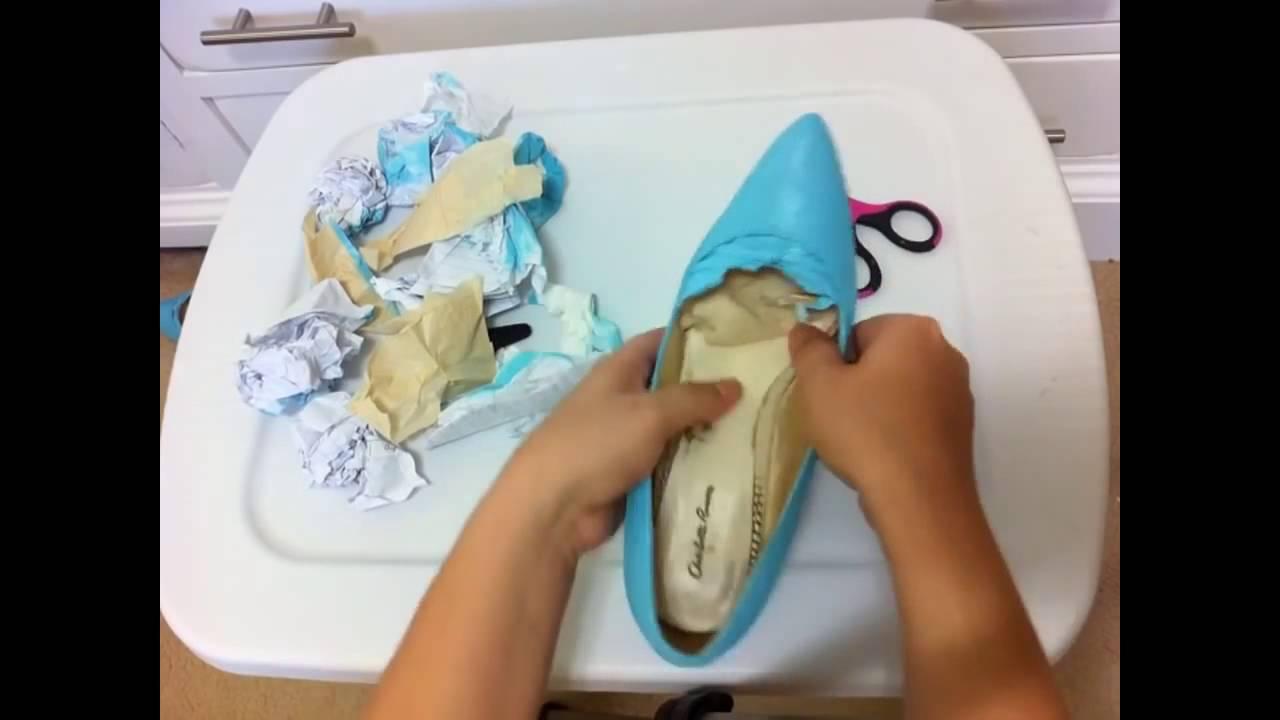 Фото как обновить старую обувь своими руками