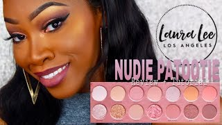 LAURA LEE Nudie Patootie Review + Swatches + Tutorial | Maya Galore