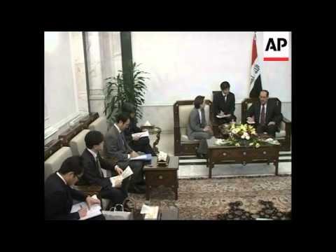 Japanese deputy FM holds talks with Iraqi PM, photo-op