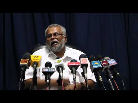 Media conference with K.N.Dules Devananda (E.P.D.P) in Jaffna on 14th July 2015 Press-01