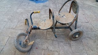 Old and Rusted Baby Bicycle Restoration and Assembling