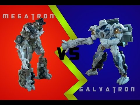 Megatron VS Galvatron (Transformers Stop Motion)