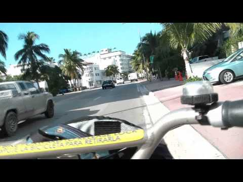 A Bicycle Tour Of Miami Beach South Beach to Mid-Beach Florida Part 2