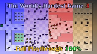 The World's Hardest Game 3, True 100% Run (All Paints, All Keys)