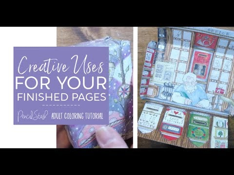 Creative and Crafty Uses for Your Finished Coloring Book Pages! - A PencilStash Tutorial