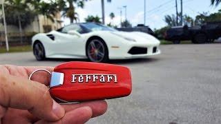 Ferrari 488 GTB Engine Start Up Drive Acceleration Exterior and Interior at Prestige Imports Miami