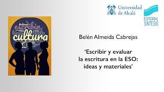 Jornadas Lengua Castellana y Literatura · Belén Almeida Cabrejas