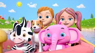 Row Row Row Your Boat | Nursery Rhyme Songs for Children | Kindergarten Cartoons by Little Treehouse
