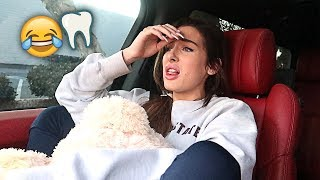 SHE GOT HER WISDOM TEETH PULLED OUT!! *FUNNY SURGERY AFTERMATH* | FaZe Rug
