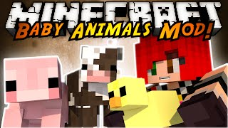 Minecraft Mod Showcase : THE BABY ANIMALS MOD!