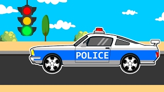 Racing Cars The Police Car Kids | Cars, Trucks and Emergency Vehicles for Kids