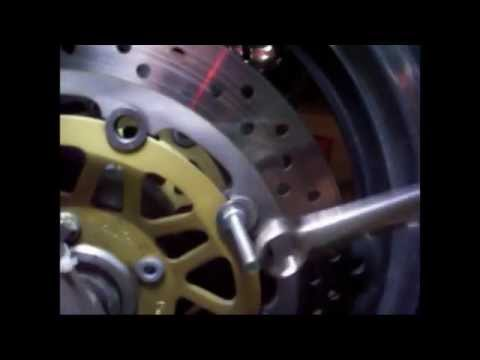 motorcycle brake rotor/buttom cleaning