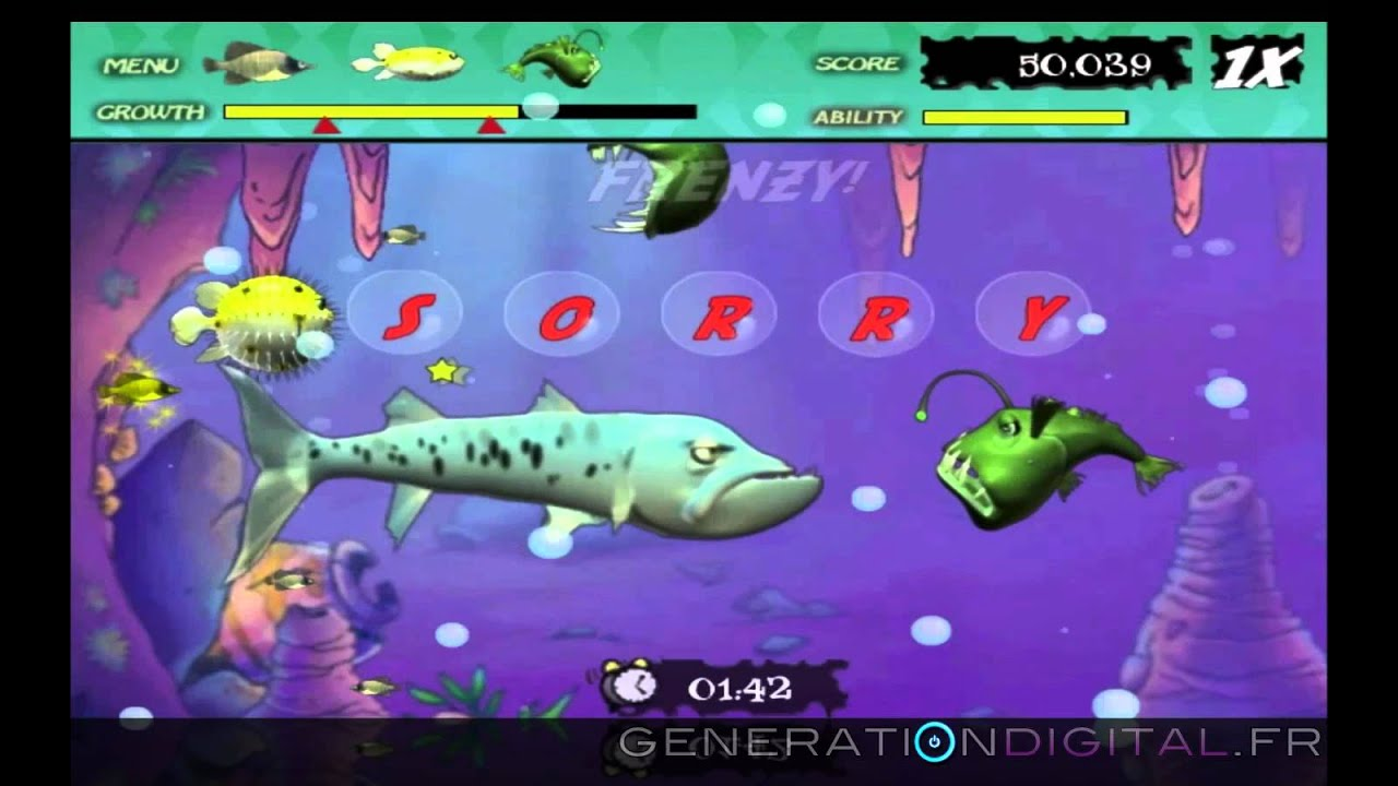 Feeding frenzy online game gameplay youtube for Fish frenzy game