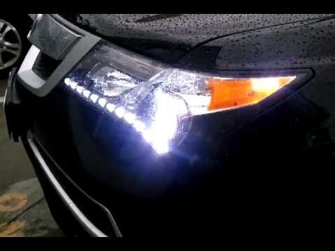 Intothecar Acura Mdx Customized Head Fog Lights Youtube