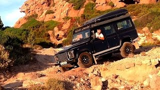 Land Rover Defender Offroad trip in Sardegna part1 Jul15
