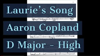 Laurie 39 S Song Piano Accompaniment The Tender Land Copland Karaoke High Key