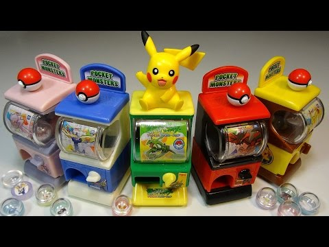 Opening: Mini Pokemon Gashapon Vending Machines!
