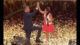 Little Angel Is On Fire with the GOLDEN BUZZER!   Judge Cut   America's Got Talent 2017