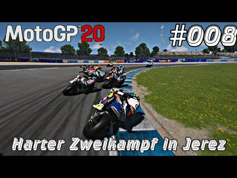 #008 MotoGP Let's Play Xbox One X - Harter Zweikampf in Jerez