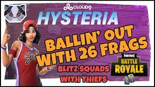 Hysteria | Fortnite Battle Royale - 26 Solo Frags - Ballin' Out in Blitz with Thiefs