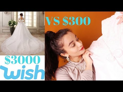 $300 Wedding Dress From Wish Review (ORG PRICE $3000)