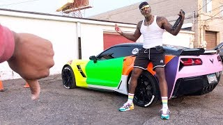 I TOLD HIM NOT TO DO THIS SMH! *THE WORST CAR WRAP EVER*