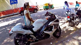SURPRISING MY SUBSCRIBER  WITH MY HAYABUSA FROM ANDHRA PRADESH