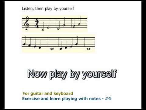 Guitar Lesson. Learn Playing With Notes