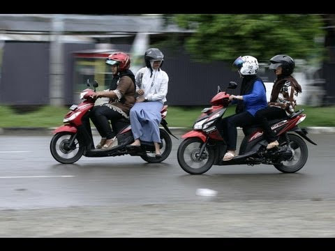 Women Banned From Straddling Motorcycles in Indonesia