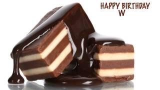 W  Chocolate - Happy Birthday