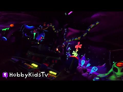 Disneyland Buzz Lightyear Blaster Ride California With HobbyKids by HobbyKidsTV