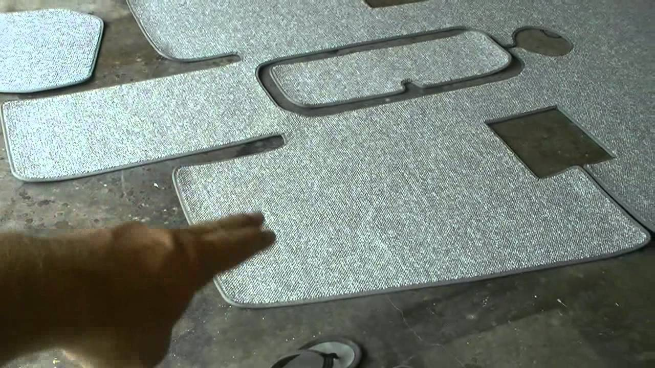 Snap In Carpet Installation In The Sea Ray Youtube