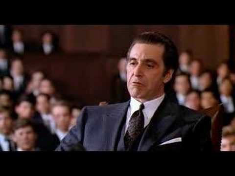 [Great Movie Scenes] Scent of a Woman - Ending Speech