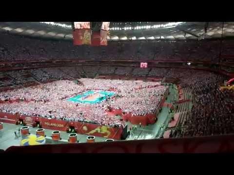 Hymn Polski A Capella - Siatkówka MŚ Polska-Serbia 3-0 30.08.2014 Stadion Narodowy - Mecz Otwarcia