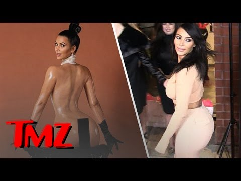 Kim Kardashian Takes Her Ass Out For A Victory Lap!