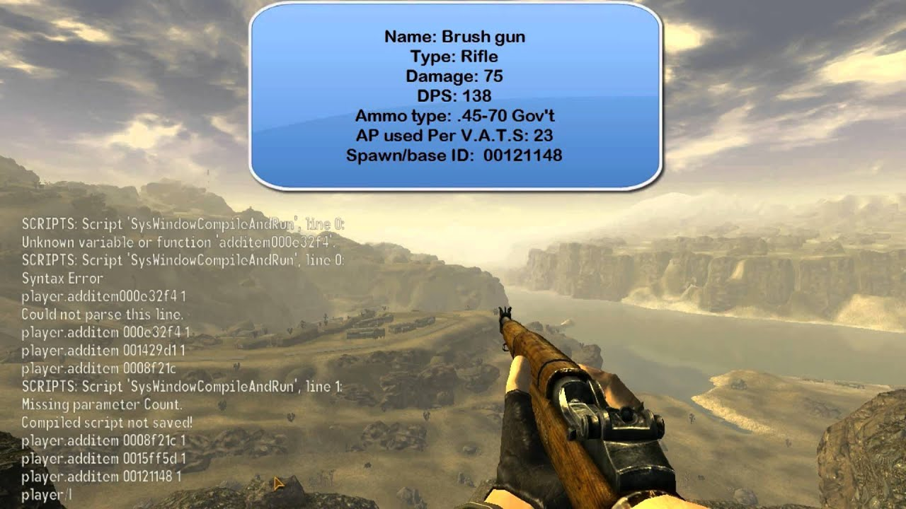 Fallout New vegas Unique Weapon Spawn ID's (Base ID's ...