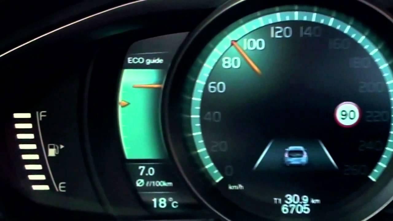 New Volvo V40 2012 - Active TFT Display at instrument ...