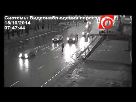 За секунду до ДТП.Барнаул.Пешеходный переход
