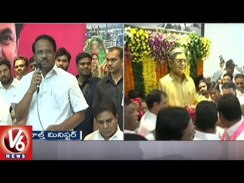 Ministers Laxma Reddy And Talasani Pays Tribute To Prof Jayashankar | Death Anniversary | V6 News