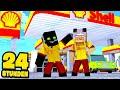 24 STUNDEN an TANKSTELLE ARBEITEN?! - Minecraft [Deutsch/HD]