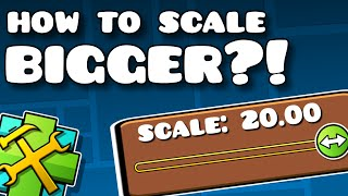 HOW TO RESIZE OBJECTS PAST THE LIMIT! Geometry Dash 2.0 Tutorial / Cheat / Hack?!