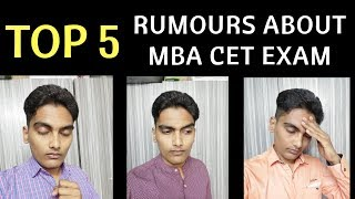 STOP THOSE RUMOURS ABOUT MBA CET EXAM 2019. Spread Awareness Stay Alert