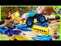 Cars Toy Videos For Kids - Underwater Monster Truck Arena with Hot Wheels