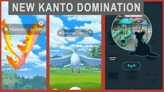 Omg awesome luck Shiny Articuno and Moltress, Rare Lapras caught + increase Kanto more spawn!
