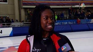 Erin Jackson Makes Olympic US Women 500m Team (Speed Skating) | LIVE 1-5-18