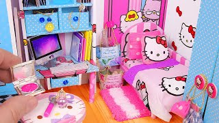 DIY Miniature Hello Kitty Dollhouse ~ Bedroom & Bathroom