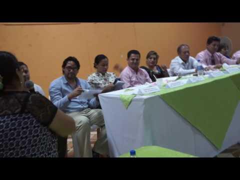 Sesión de trabajo con presidentes barriales de Chone